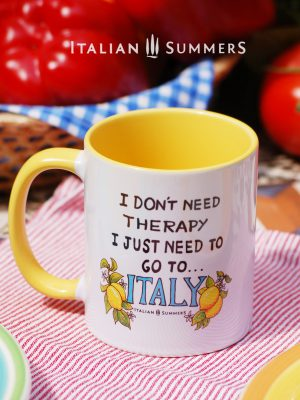 I DONT NEED THERAPY, I JUST NEED TO GO TO ITALY-Yellow-mug