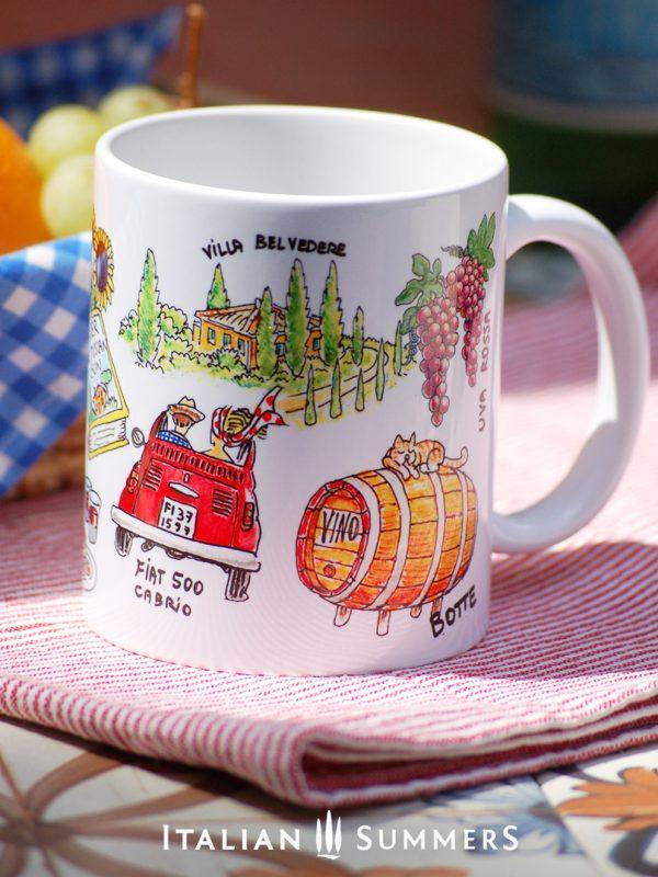 Mug SALUTI DA TOSCANA by Italian Summers
