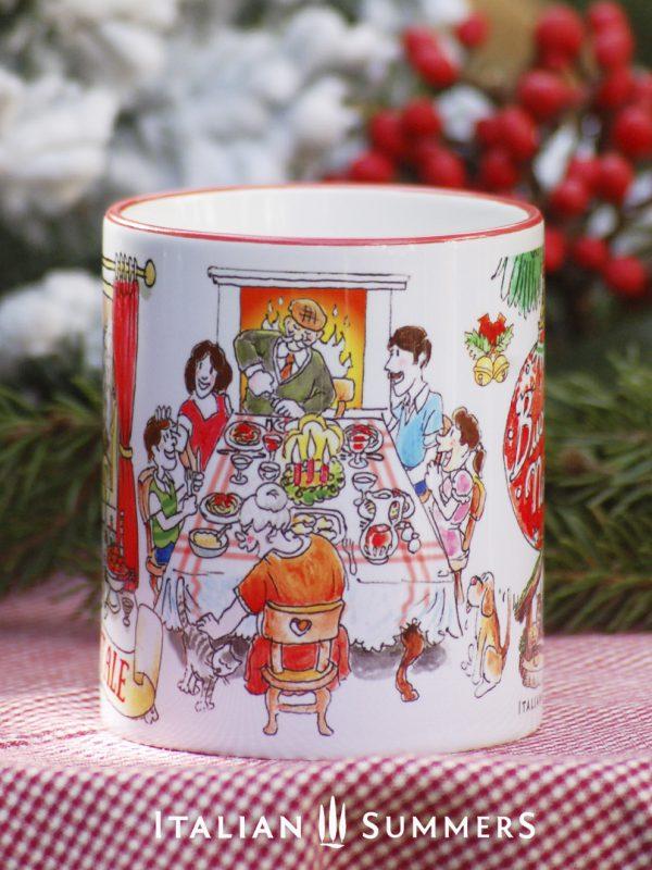 NATALE IN FAMIGLIA Italian Christmas coffee mug by Italian Summers