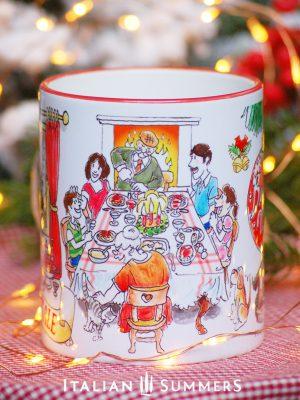 Italian Christmas mug NATALE IN FAMIGLIA by Italian Summers