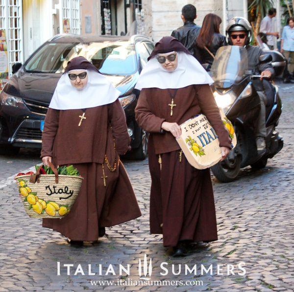 Nuns shoppping in Rome, Italy by Claudio Assandri at Italian Summers