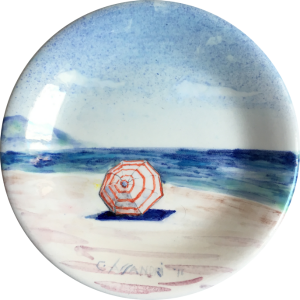 Ombrellone plate ceramic by Italian Summers