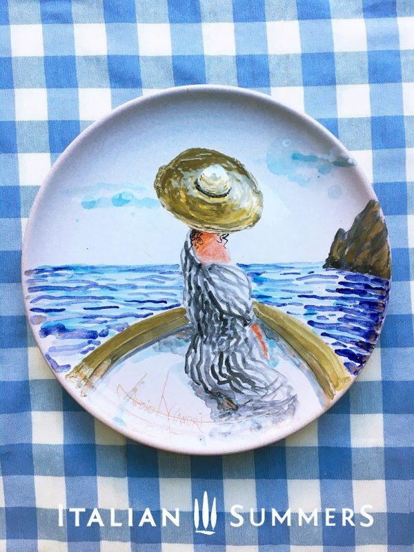 Handpainted ceramic plate by Italian Summers