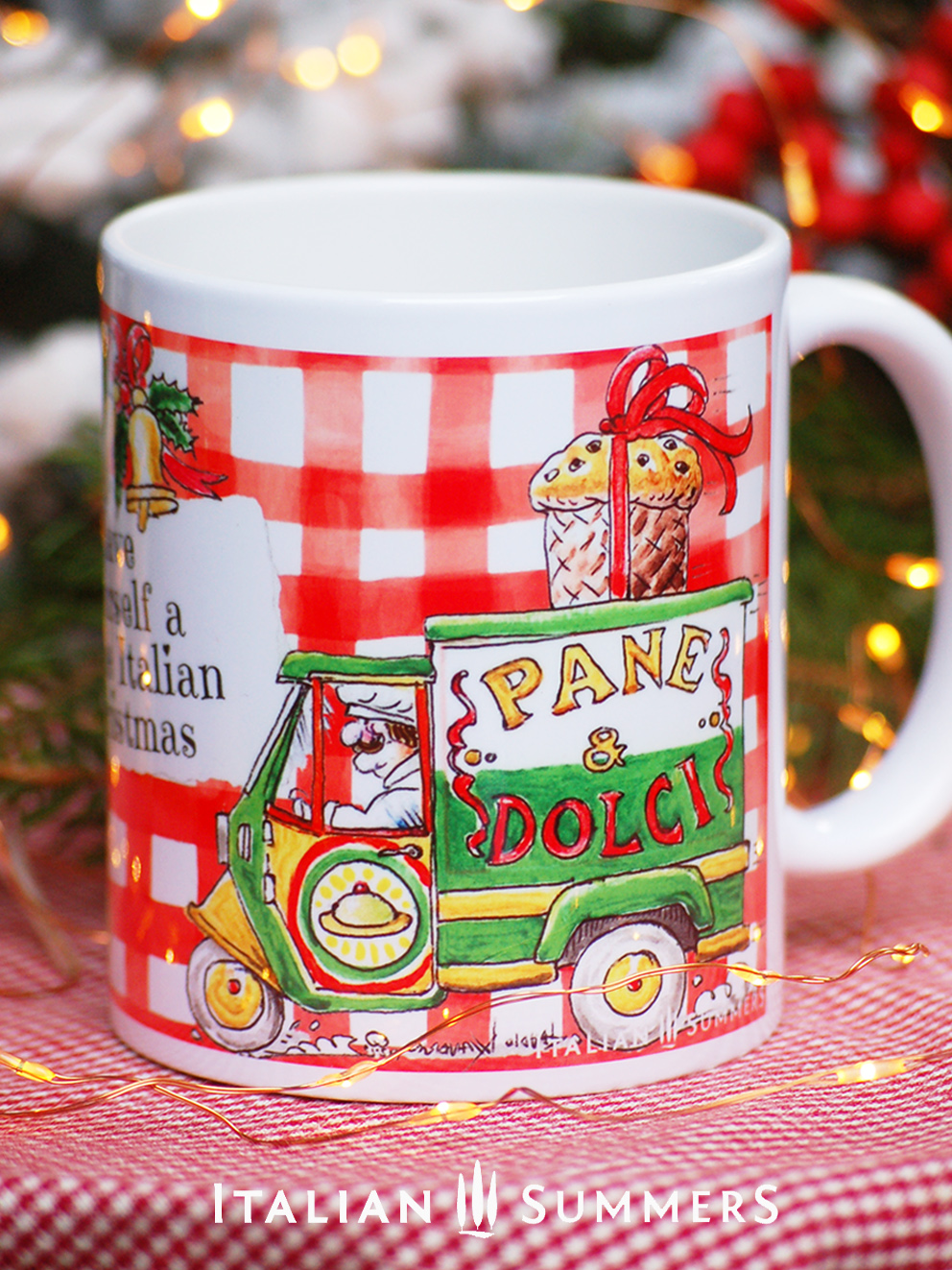 Christmas Coffee Mugs.Italian Christmas Mug Pane E Dolci