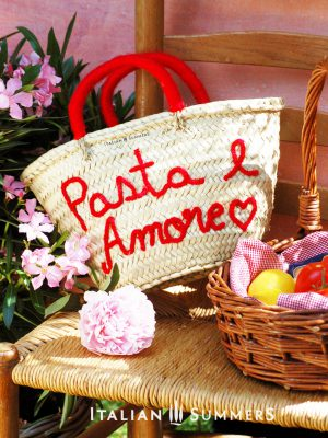 PASTA e AMORE Straw bag by Italian Summers