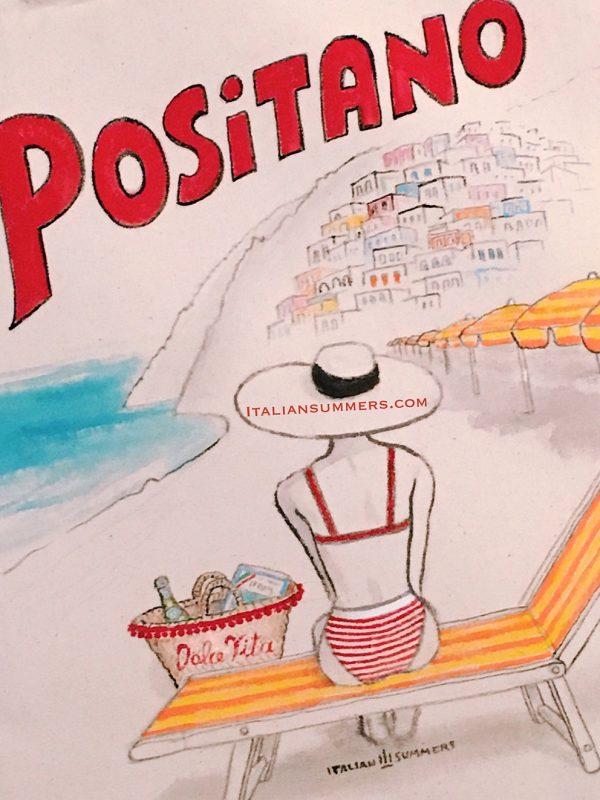 Positano Dolce Vita Tote bag by Italian Summers