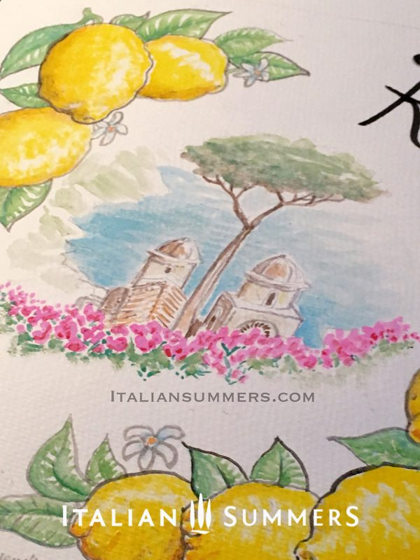 Ravello Amalfi Coast Lemons Tote bag by Italian Summers
