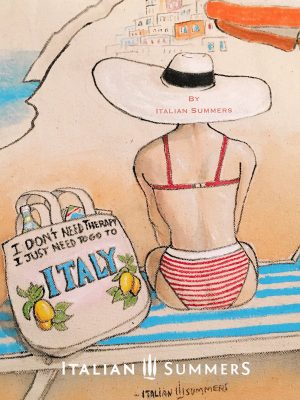 Saluti da Positano Tote bag by Italian Summers