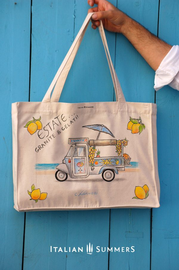 Shopper tote bag GRANITE & GELATI by Italian Summers.