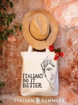 Shopper tote bag ITALIANS DO IT BETTER michelangelo by Italian Summers