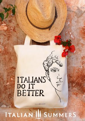Shopper tote bag ITALIANS DO IT BETTER michelangelo by Italian Summers