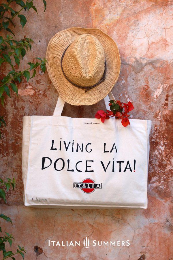 Shopper tote bag LIVING LA DOLCE VITA by Italian Summers