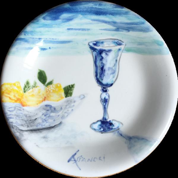 Sorrento Lemons ceramic plate made by Italian Summers