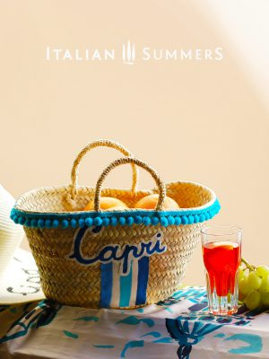 Straw Bag LITTLE MISS CAPRI by Italian Summers