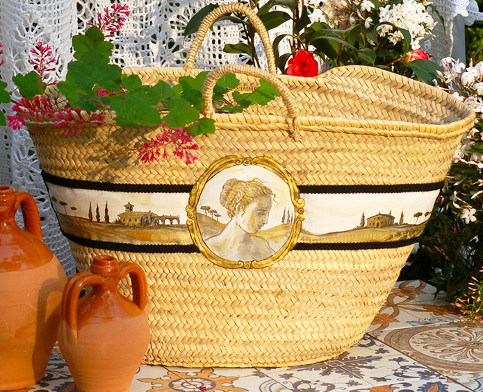 Straw welcome Bag Toscana Large by Italian Summers
