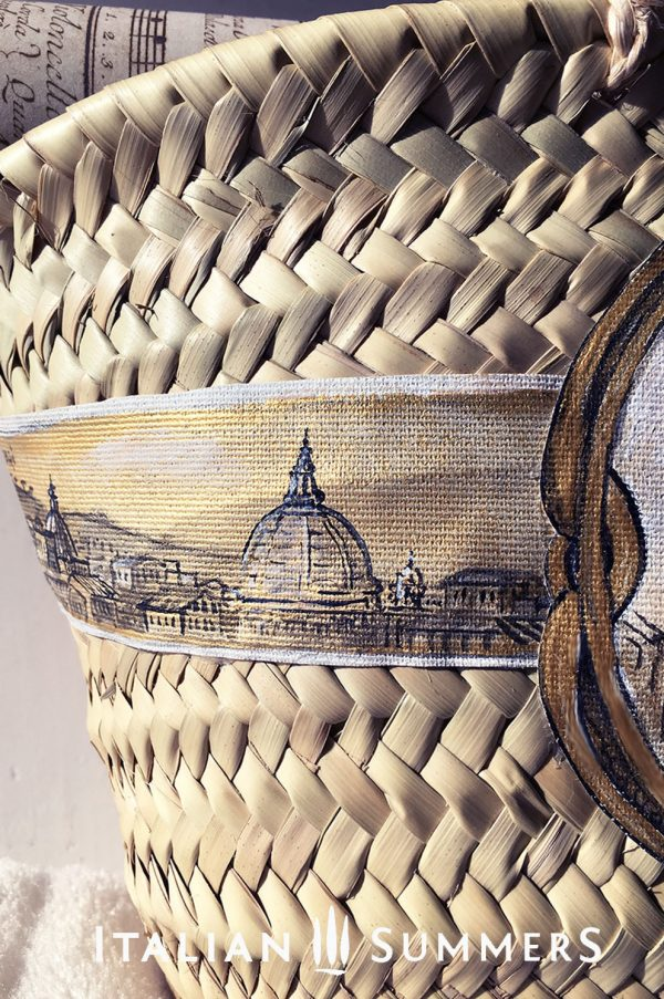 Straw bag VIEW ON PIAZZA NAVONA by Italian Summers