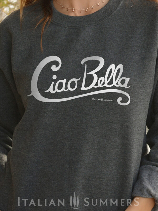 Sweatshirt CIAO BELLA by Italian Summers Gray-white text