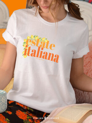 T Shirt ESTATE ITALIANA by Italian Summers: a celebration of sea,sun and chilled prosecco sunsets