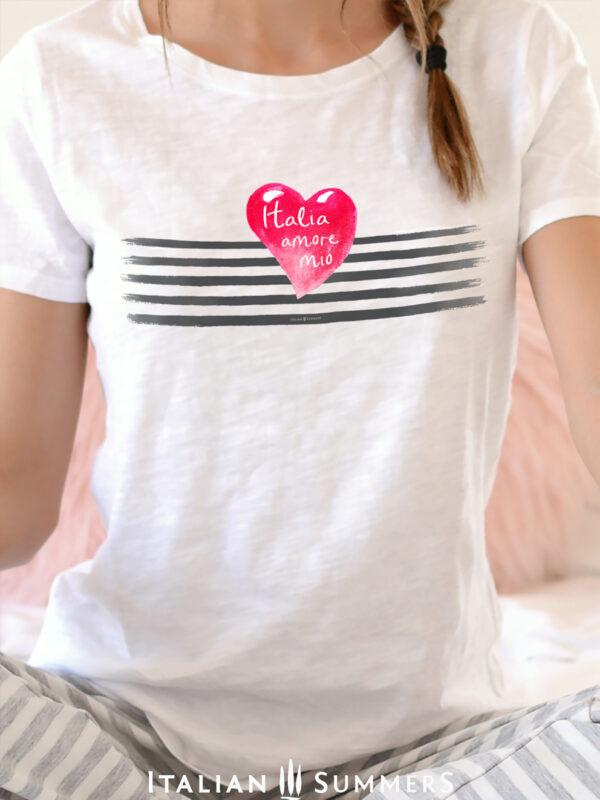 T Shirt ITALIA AMORE MIO by Italian Summers