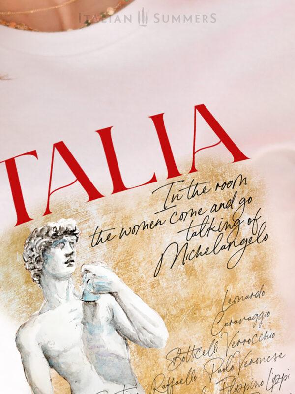 T Shirt ITALIA LAND OF ART by Italian Summers