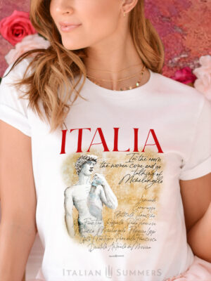 T Shirt ITALIA LAND OF ART by Italian Summers
