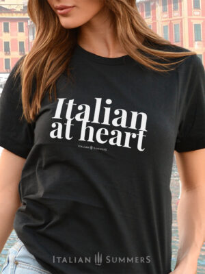 T Shirt ITALIAN AT HEART black by Italian Summers