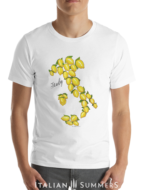 T Shirt ITALY LAND OF LEMONS blank bkr.by Italian Summers 992