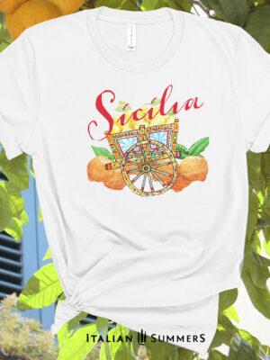 T Shirt SICILIA CARRETTO knot Arance 992