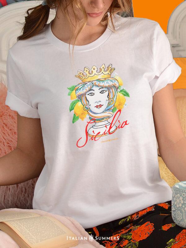 T Shirt SICILIAN QUEEN by Italian Summers