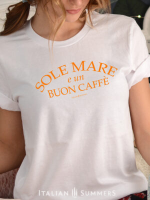 T Shirt SOLE MARE E UN BUON CAFFE by Italian Summers