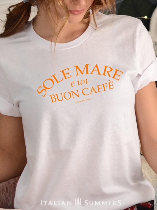 T Shirt SOLE MARE E UN BUON CAFFE by Italian Summers