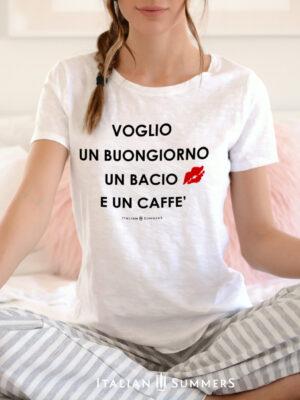 T Shirt-BUONGIORNO BACIO CAFFE by Italian Summers