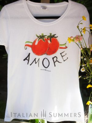 T shirt AMORE POMODORI by Italian Summers