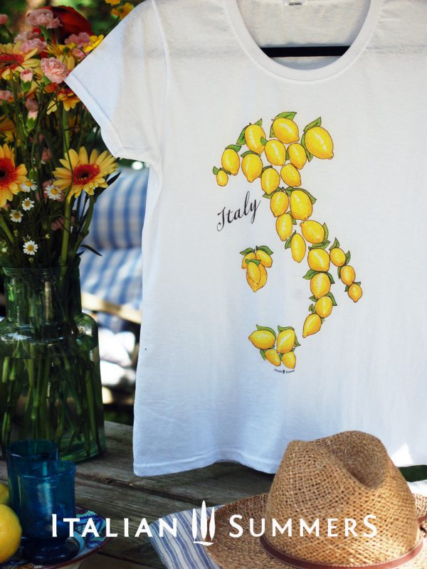 T-shirt ITALY LAND OF LEMONS by Italian Summers