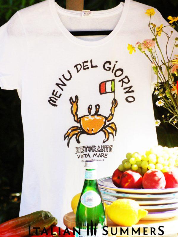 T shirt MENU DEL GIORNO by Italian Summers