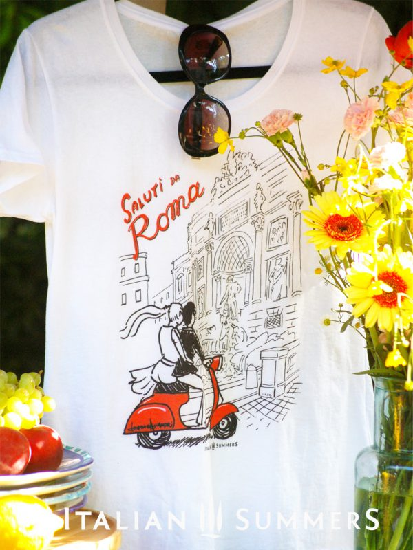 T-shirt SALUTI DA ROMA by Italian Summers