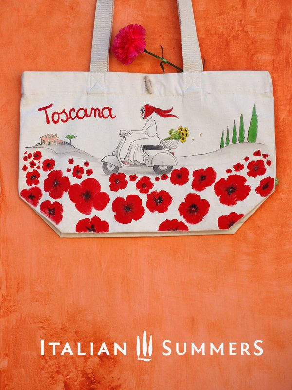 Tocana Poppies Tote Bag by Italian Summers
