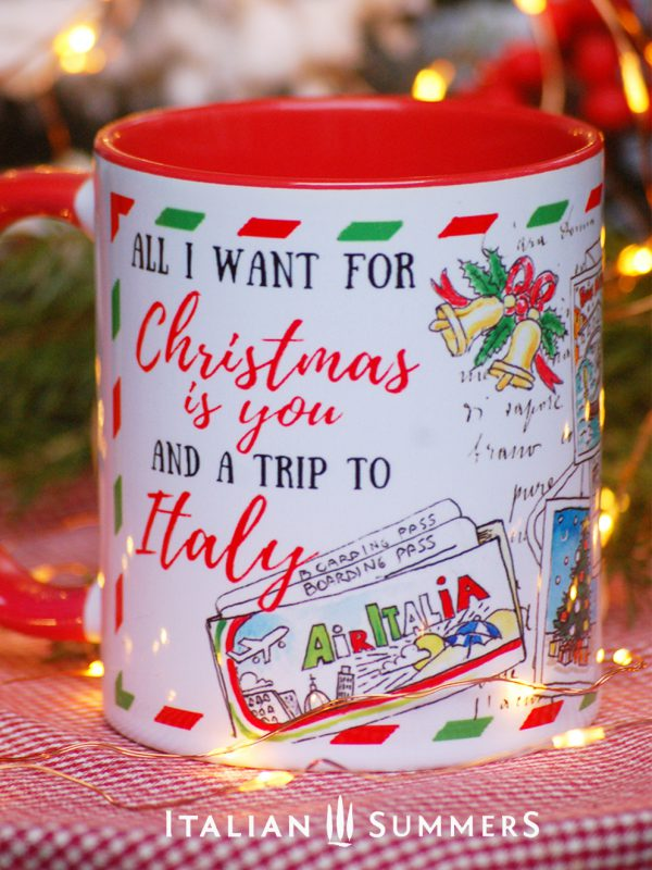 Italian Christmas mug TRIP TO ITALY by Italian Summers