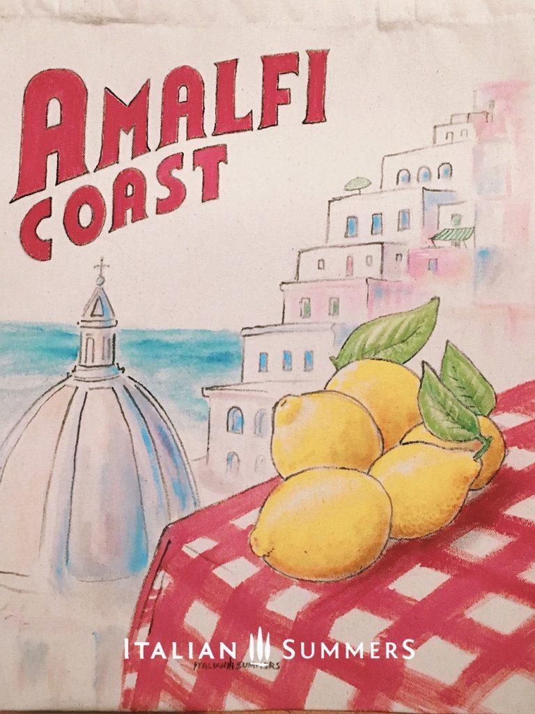 Tote bag Amalfi Coast, Positano lemons by Italian Summers