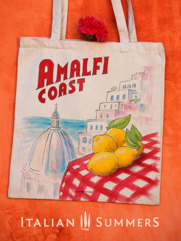 Tote bag Amalfi Coast, Positano lemons by Italian Summers