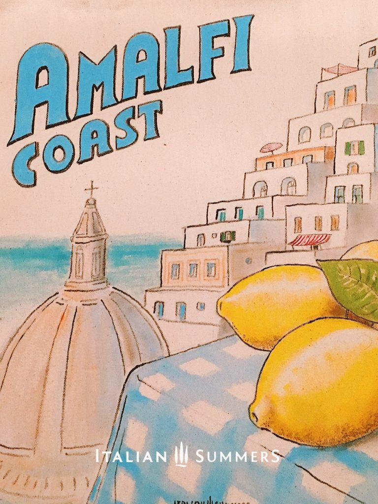 Tote bag Amalfi Coast lemons by Italian Summers