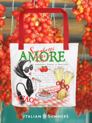 Tote bag Viva La Pasta by Italian Summers