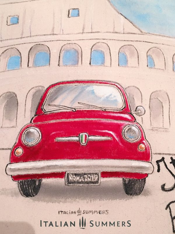 Totebag ITALIANS DO IT BETTER Fiat 500 Rome by Italian Summers