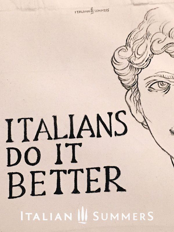 Totebag ITALIANS DO IT BETTER Michelangelo by Italian Summers