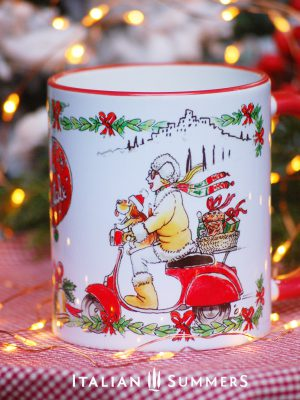 Italian Chrimas Mug VESPA GIRL by Italian Summers.
