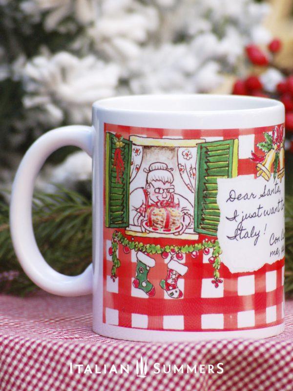 VESPA GIRL NATALE Italian Christmas coffee mug by Italian Summers