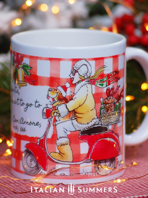 Italian Christmas mug VESPA GIRL NATALE by Italian Summers