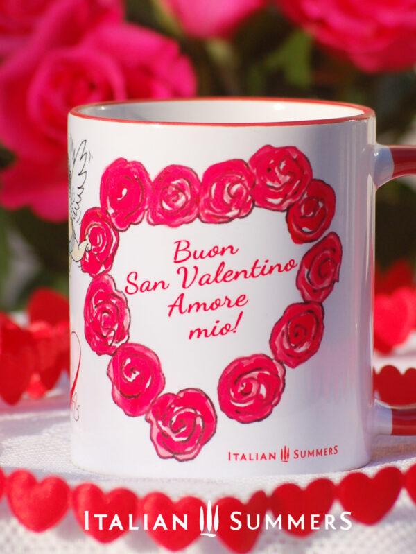 Valentine Mug AMORE PER SEMPRE by Italian Summers: Valentine's day mugs by Italian Summers. Make your San Valentino more Italian with these original designer mugs!
