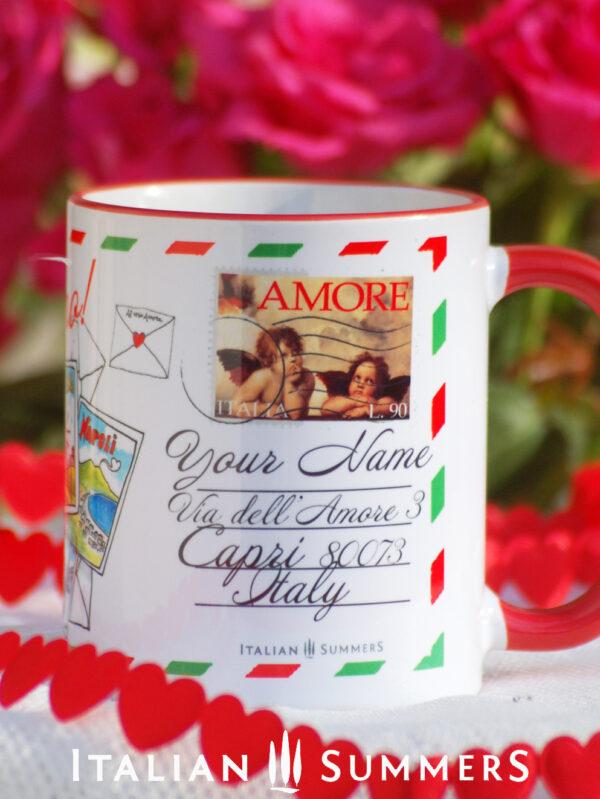 Valentine Mug I LIKE YOU MORE THAN PIZZA by Italian Summers