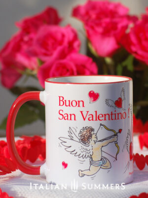 Valentine Mug CUPIDS and HEARTS by Italian SummersValentine's day mugs by Italian Summers. Make your San Valentino more Italian with these original designer mugs!